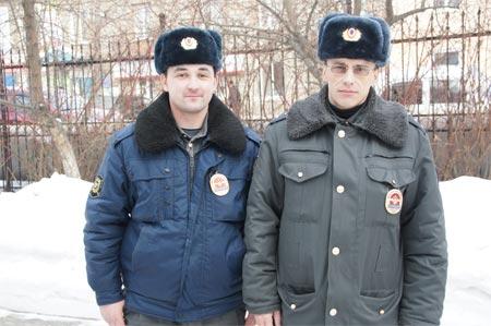 Прапорщик Владимир Садовский и  старший сержант Антон Фирсов задержали преступника