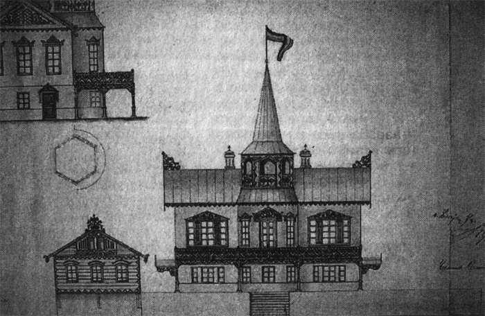 Чертеж Демидовской дачи. Первая половина 19-го века.