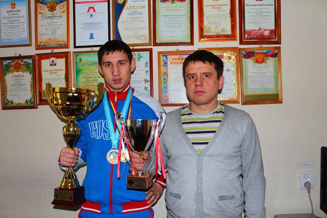 Александр Бакиров и тренер  Илья Яговитин