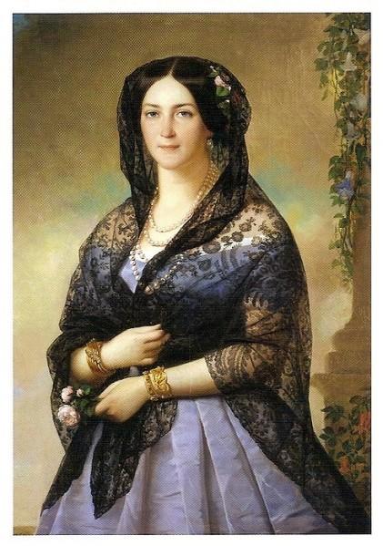 008_худ. Алексис-Жозеф Периньон. Аврора Карамзина. 1853