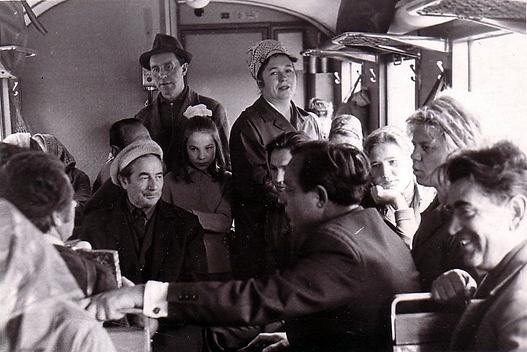 реп. 004_В вагоне поезда. фото 1972 г.