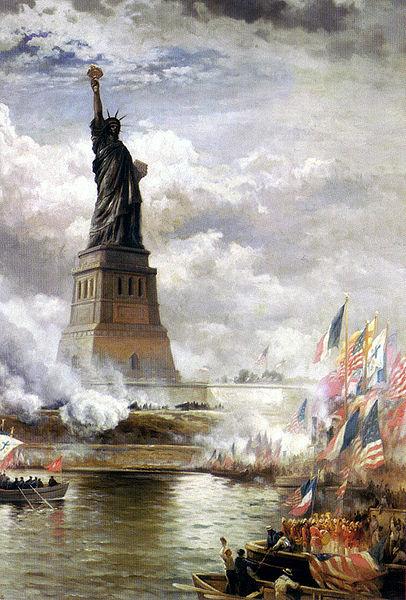 001_Открытие памятника Свободы_худ. Э. Моран