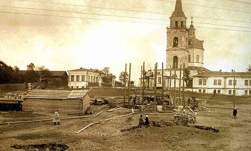 002_строительство памятника Ленину