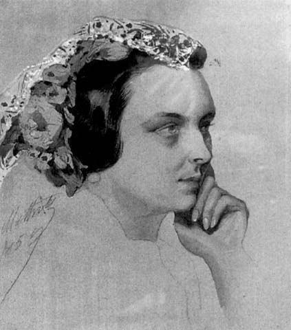 014_Принцесса Матильда, автопортрет  1859