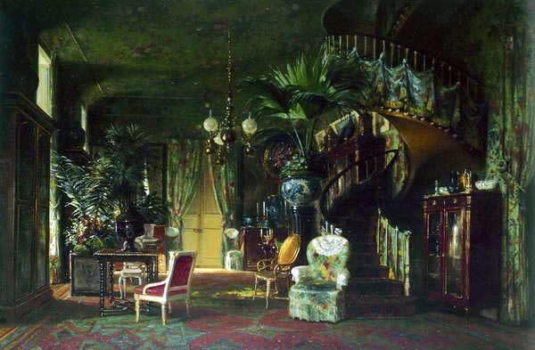 015_Салон-библиотека принцессы Матильды,  Шарль Жиро 1861