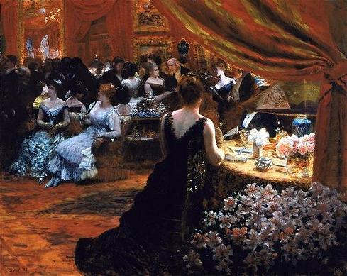 016_В салоне принцессы Матильды Бонапарт, 1883 г,  Джузеппе де Ниттис
