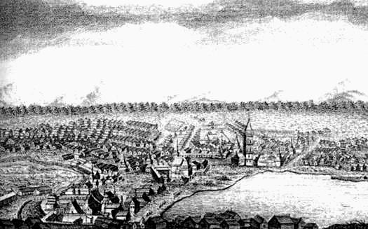 003_Вид Невьянского завода (гравюра XVIII в)