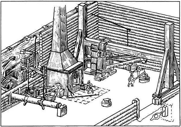 000_типичная плавильная мануфактура XVII века