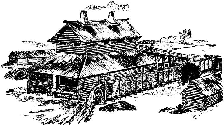 002_доменный амбар XVII века, состоявший из двух печей