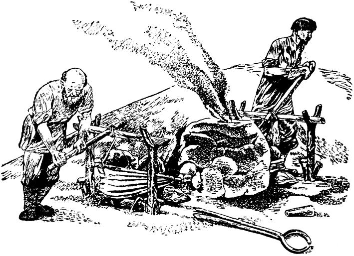 004_Выплавка железа в домашней домнице