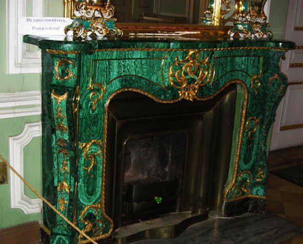 014_малахитовый камин во дворце князя Юсупова