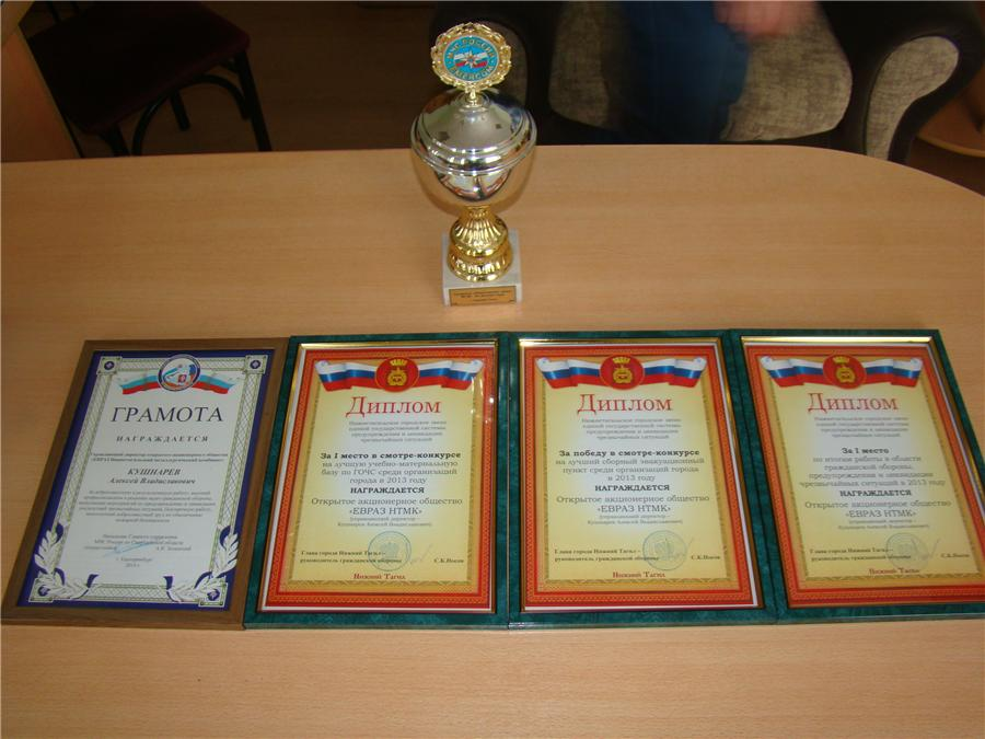 Награды ЕВРАЗ НТМК
