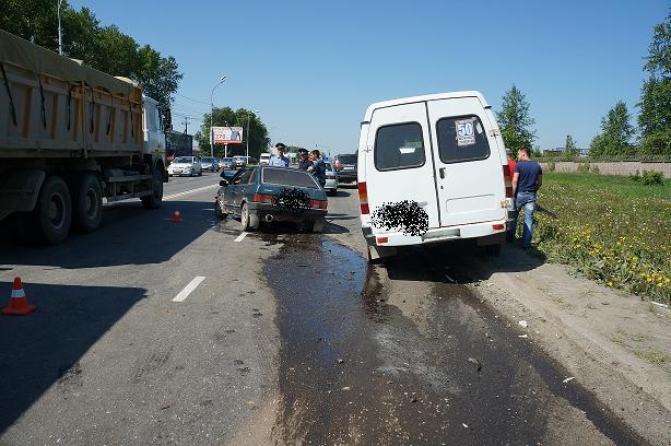 столкновение ВАЗ  с пассажирской маршруткой