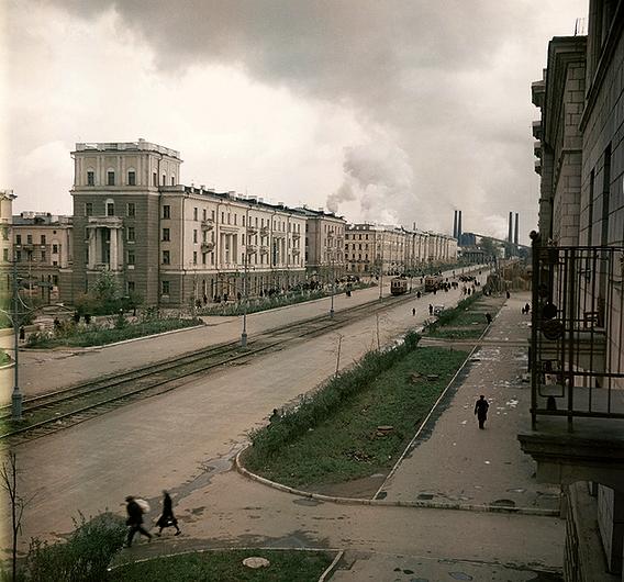 Проспект Ленина (фото 1954-55 гг.)