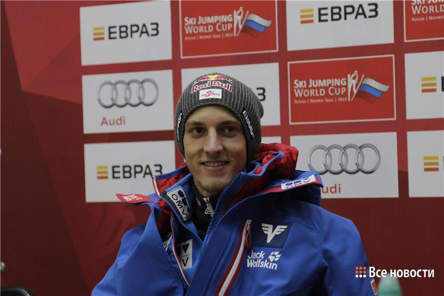Грегор Шлиренцауэр из Австрии, занял второе место