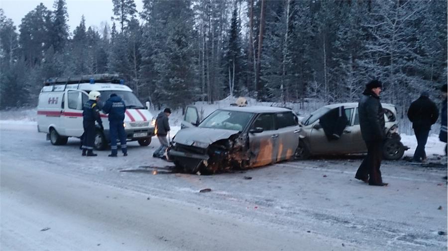 toyota, mazda, lada и уаз: под нижним тагилом столкнулись четыре автомобиля