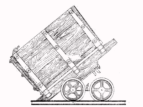 Вагончики для откатки угля (чертёж кон. XIX – нач. XX вв.)