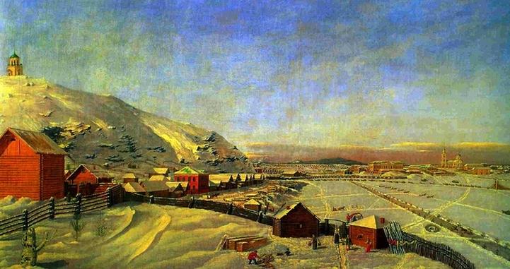 Тагил зимой (худ. П. Веденецкий, 1830 г.)