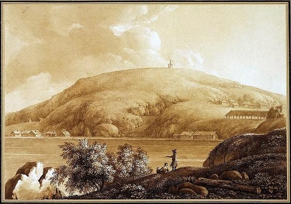 Нижнетагильский завод. Вид на Лисью гору (гравюра Г. П. Гельмерссена)