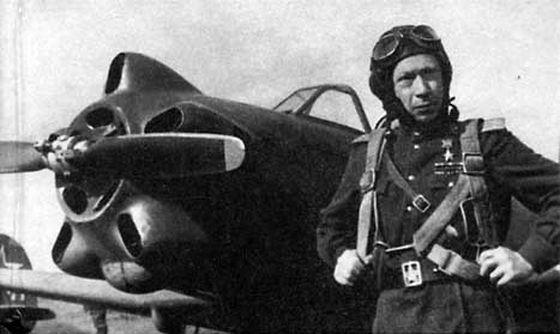 Герой Советского Союза, командир 163-го ИАП, Павел Андреевич Пологов