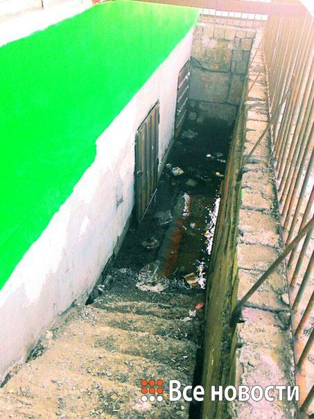 Затопленный вход в подвал