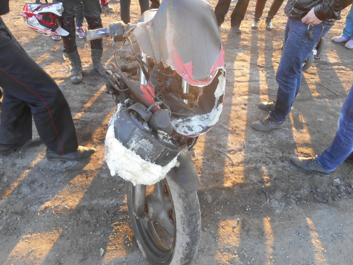 ДТП 28.04.2015 г. на Балакинской повреждение мото