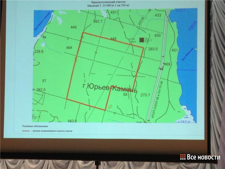 красным на карте обозначена природоохранная зона