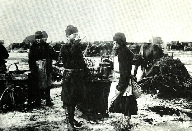 Продавец сбитня (фото конца XIX в.)