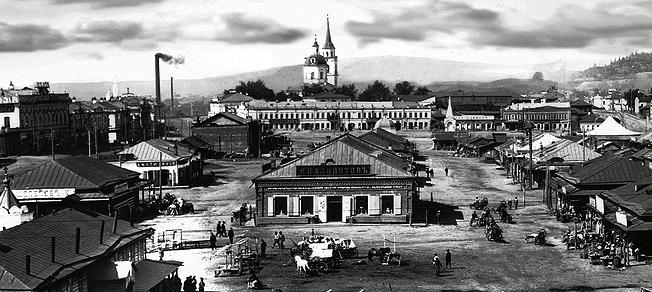 Базарная площадь в Нижнетагильском посёлке