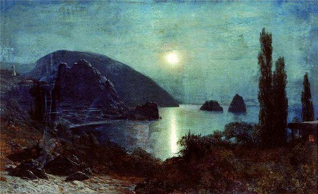 Лев Лагорио «Гурзуф». 1885 г. (из коллекции НТМИИ)