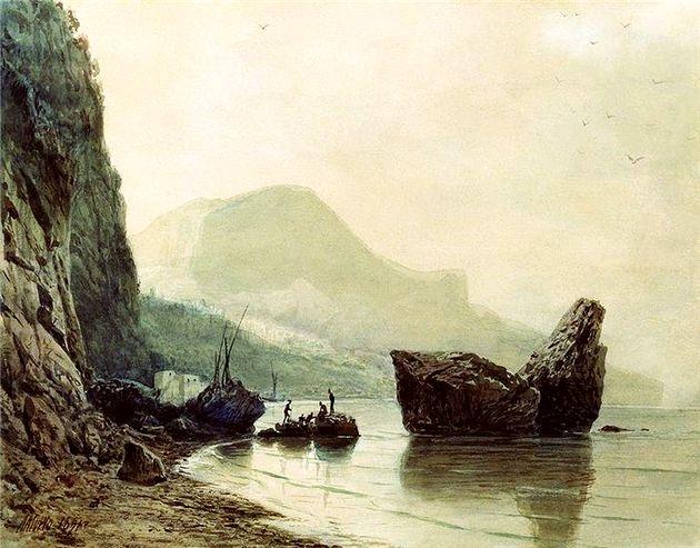 Лев Лагорио «Чёрное море». 1891 г. (из коллекции НТМИИ)