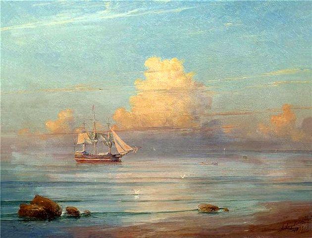 Иван Айвазовский «Морской пейзаж». 1871 г. (из коллекции НТМИИ)
