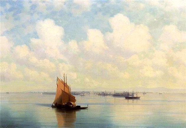 Иван Айвазовский «Морской пейзаж». 1872 г. (из коллекции НТМИИ)