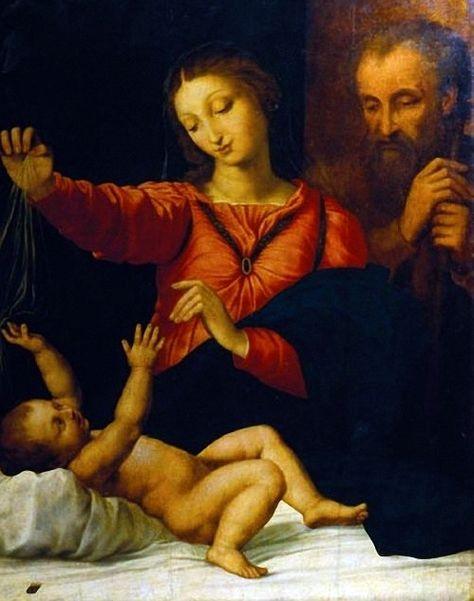 Рафаэль Санти. «Madonna del Velo» («Madonna del Popolo», «Тагильская мадонна») 1509 г.