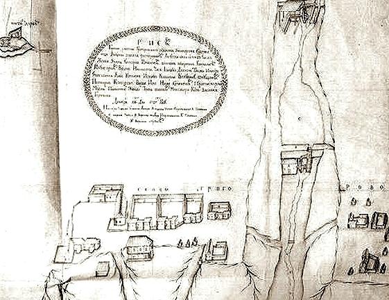 Плана горных работ Григоровского рудника. 1727 г.