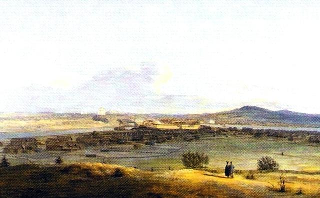 Вид Выйского медеплавильного завода (худ. В. Е. Раев, 1838 г.)