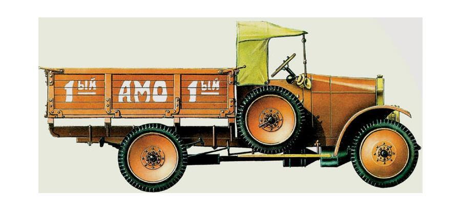 Первый советский грузовик АМО-Ф-15, 1924 год