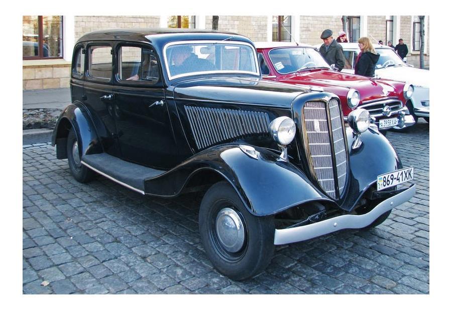 ГАЗ М-1 «эмка» - самый массовый советский автомобиль  до середины 50-х годов ХХ века. Выпускался с 1936 по 1943 год.