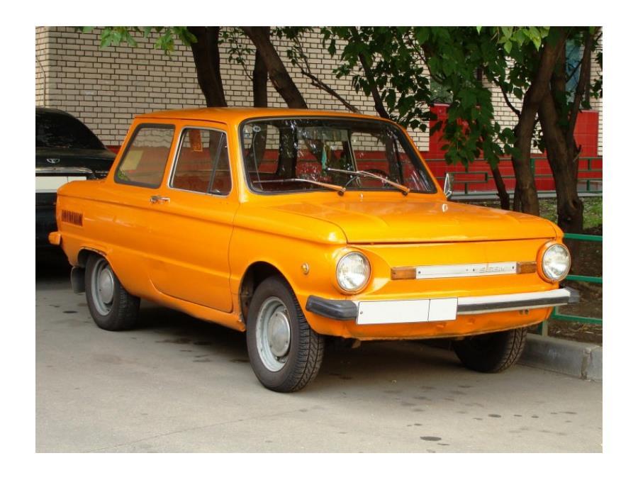 ЗАЗ-968 «Запорожец» («ушастый», «чебурашка» «мыльница») – выпускался с 1971 по 1994 годы.
