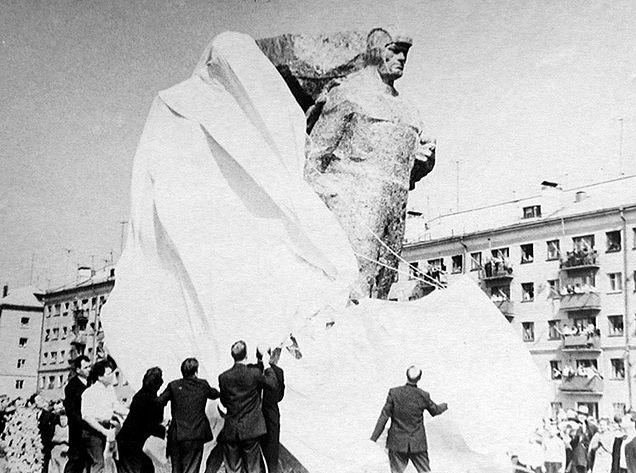 Открытие памятника 9 мая 1968 г.