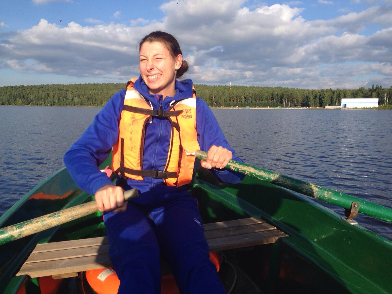Ирина Заряжко после тренировки в Леневке