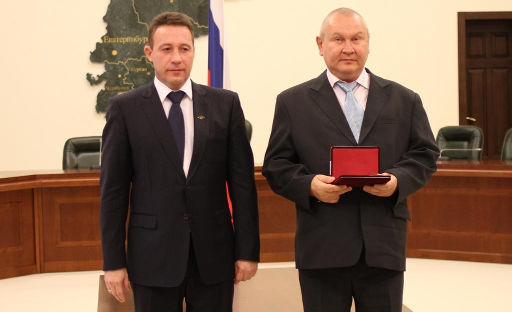Заслуженный металлург РФ Владимир Федюнин на награждении