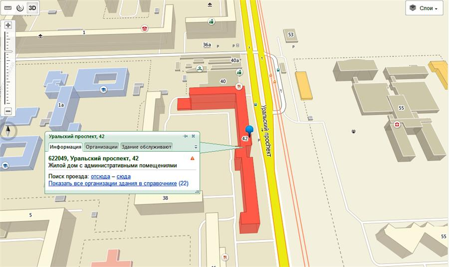 Уральский проспект, 42 - адрес-план