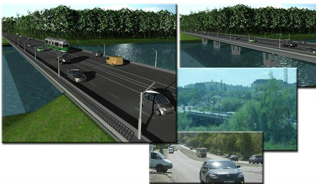Проект моста на Фрунзе