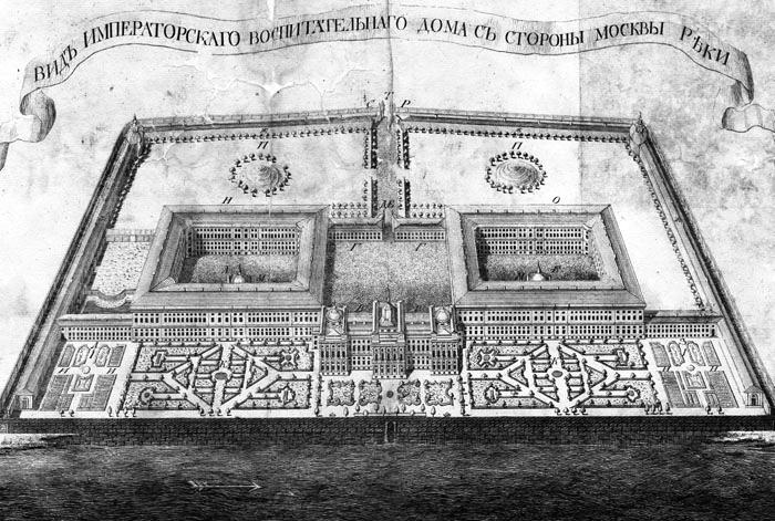Московский воспитательный дом П. А. Демидова (рис. XIX в.)