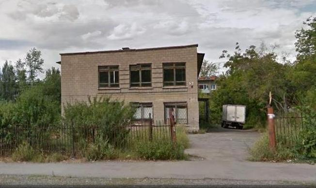Здание заброшенного детского сада на Google Карте