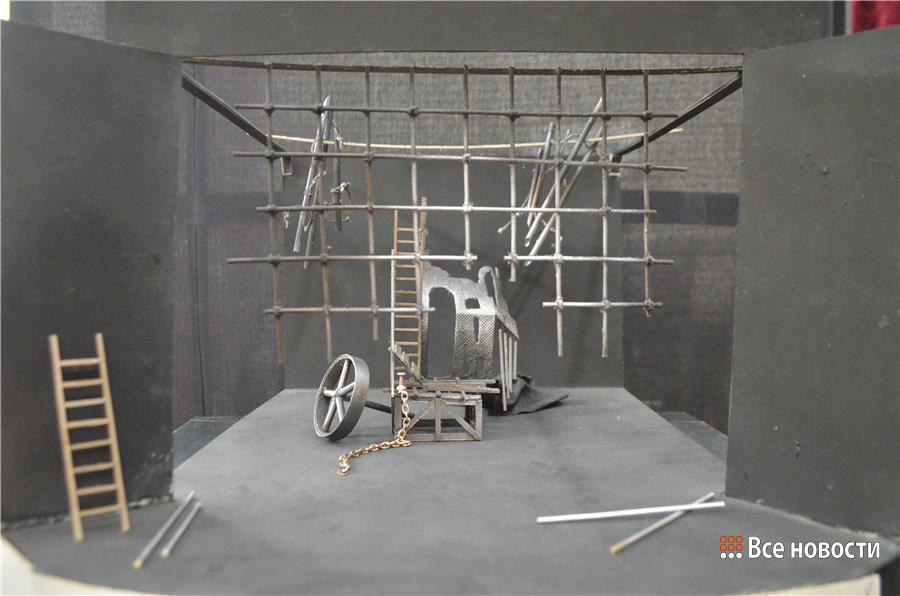 Макет декораций сцены