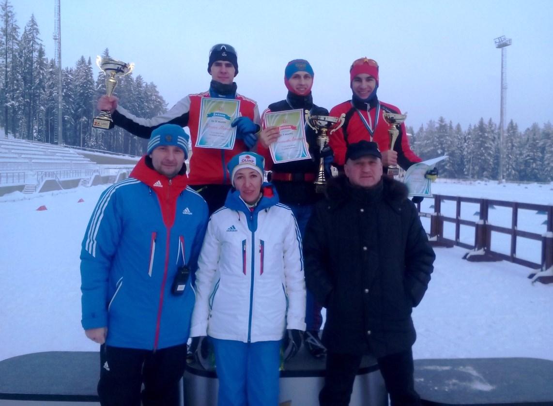Призёры 6 этапа Кубка России по лыжному двоеборью