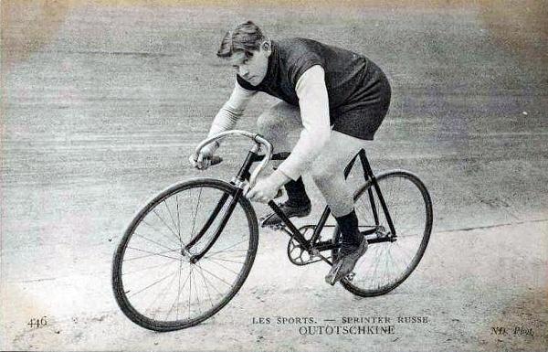 Сергей Уточкин на велотреке в Берлине (фото 1908 г.)