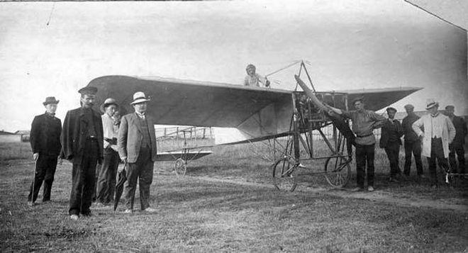 В.В. Каменский на своём аэроплане «Блерио-XI» в Перми (фото 1912 г.)